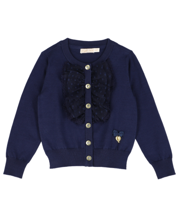 "Angel""s Face Polly Cardigan  Navy"