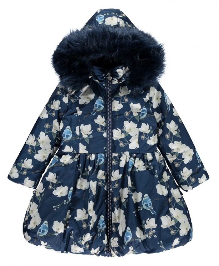 Ariana Dee Long winter coat navy