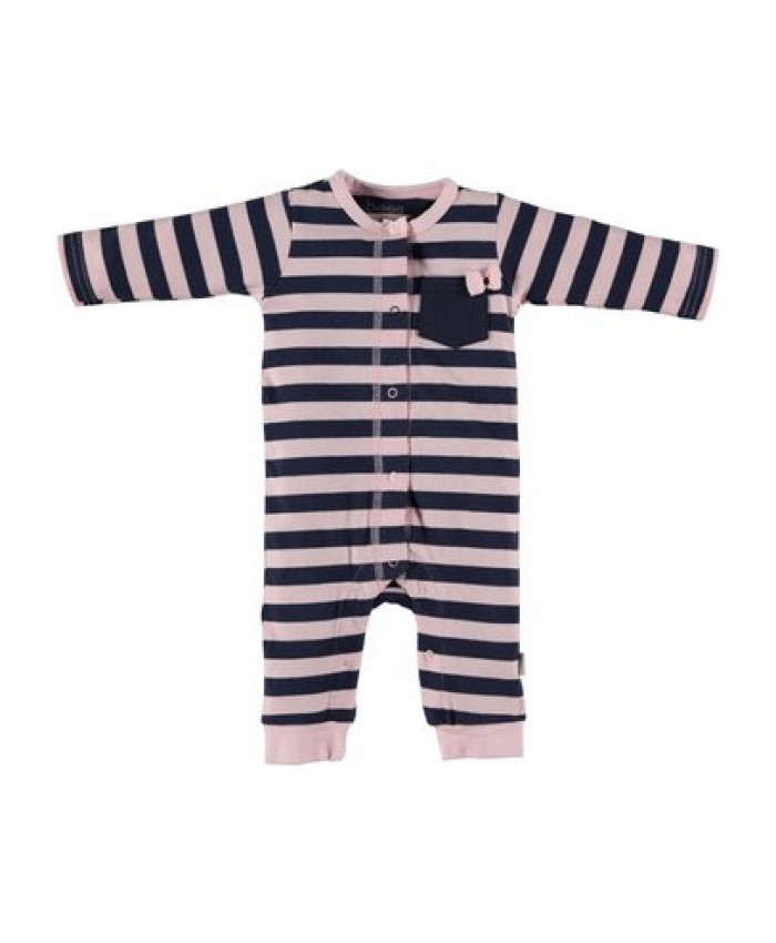 b*e*s*s newborn  cotton pink stripe jumsuite
