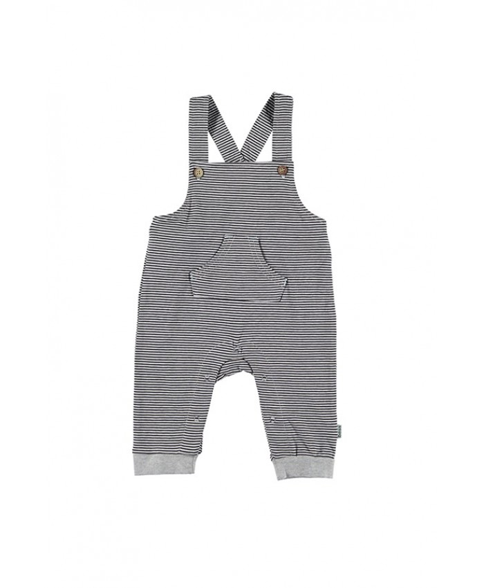 b*e*s*s newborn  tricot dungaree grey stripe
