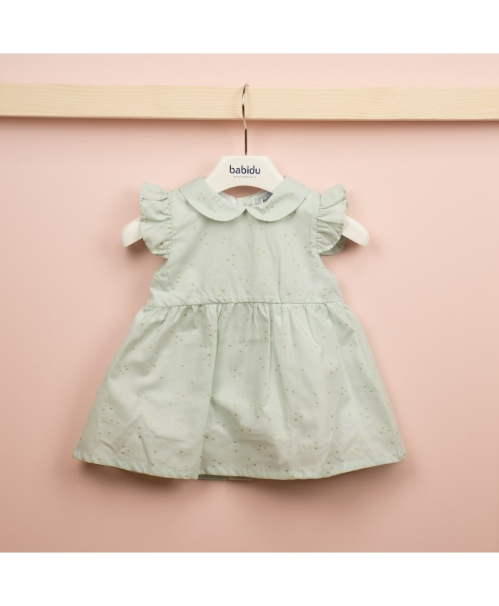Babidu  Peter Pan Colar Dress Verde