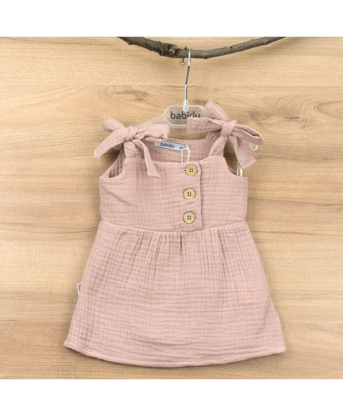 Babidu Malta Dress Old Pink