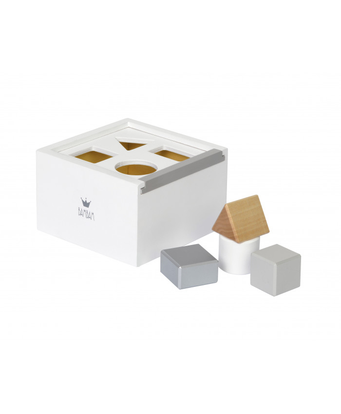 Bam Bam Bam wooden blok box white