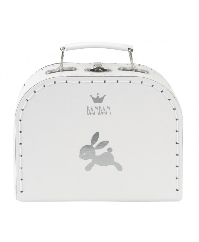 Bam Bam Suit case rabbit  white
