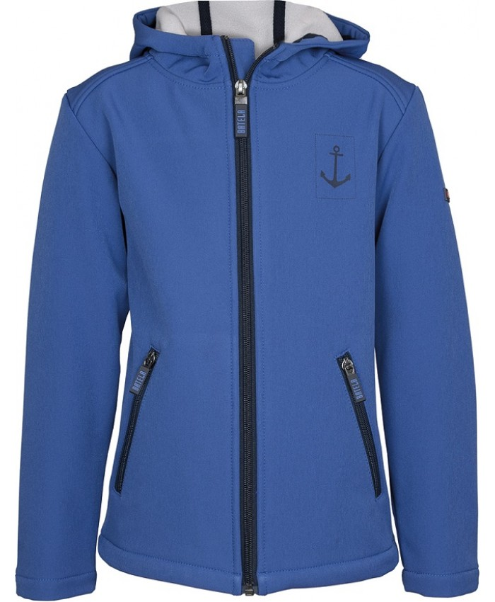 Batela Hooded cardigan  soft shell Kobalt Blue
