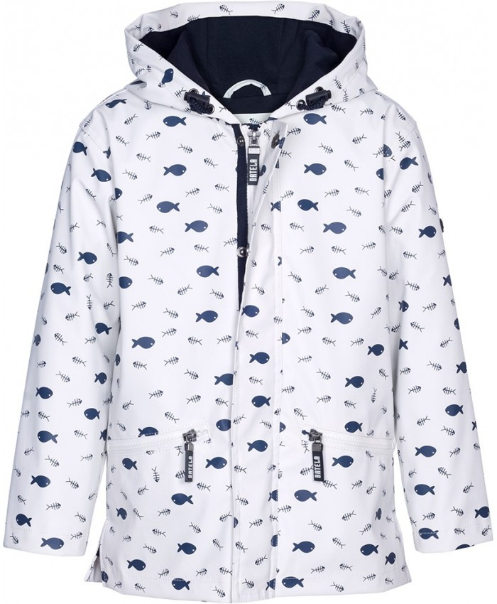 Batela regen coat C3112 NAVY-WHITE W.2018