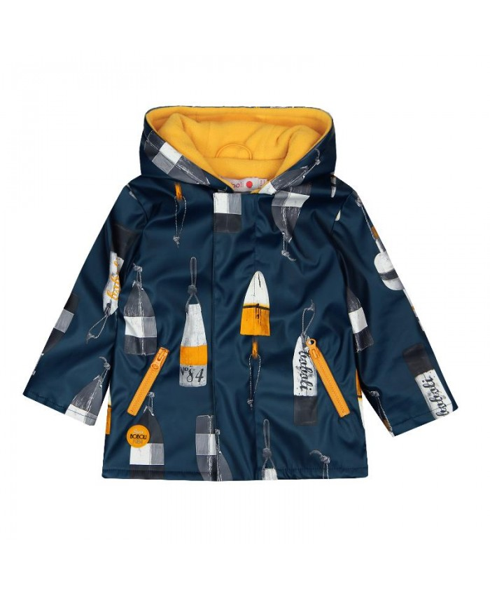 Boboli Hooded Raincoat For Baby Boy  Navy