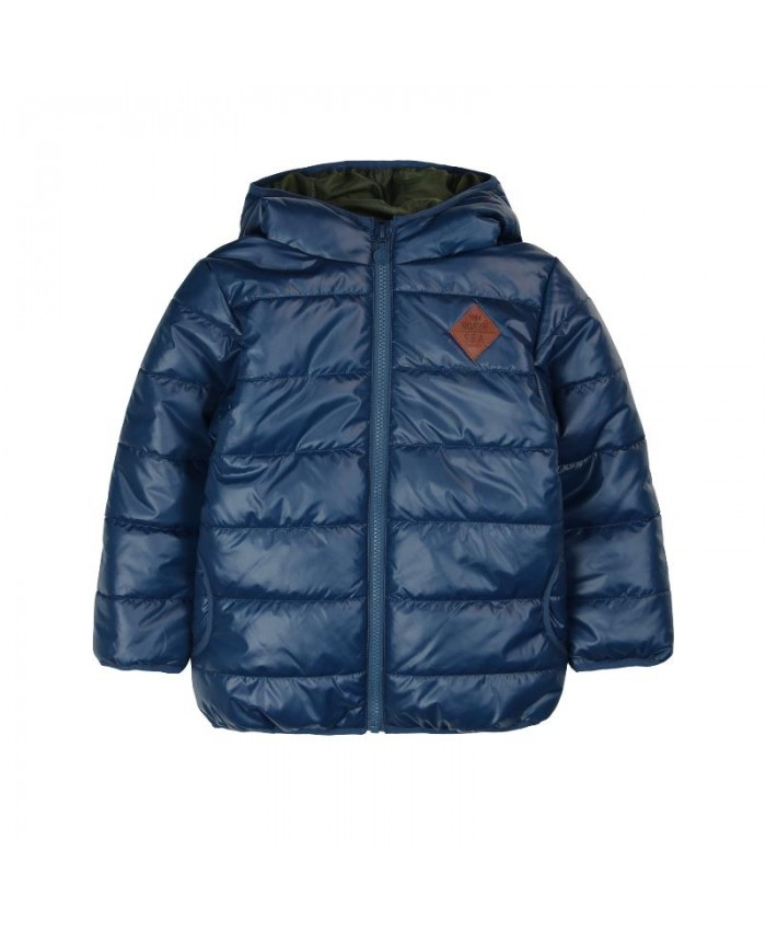 Boboli Techincal  Fabric  Parka For Boy's  Navy