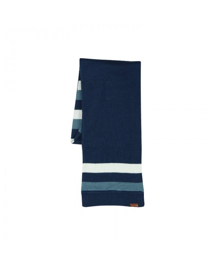 Boboli Shawl  navy stripe