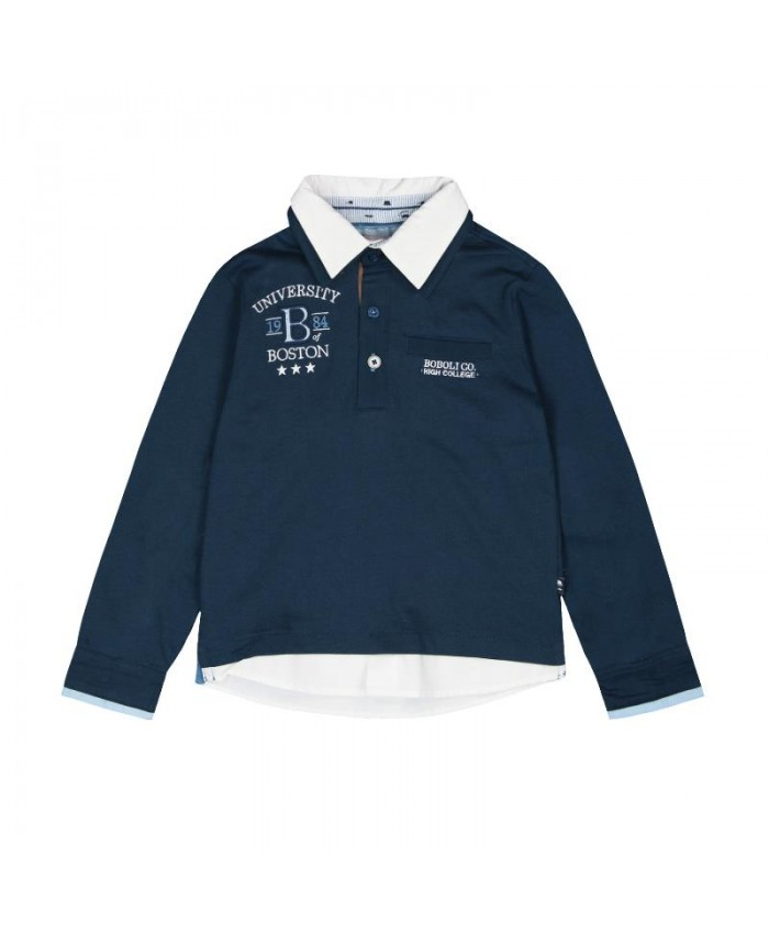 Boboli Knit Combined Polo for Boy