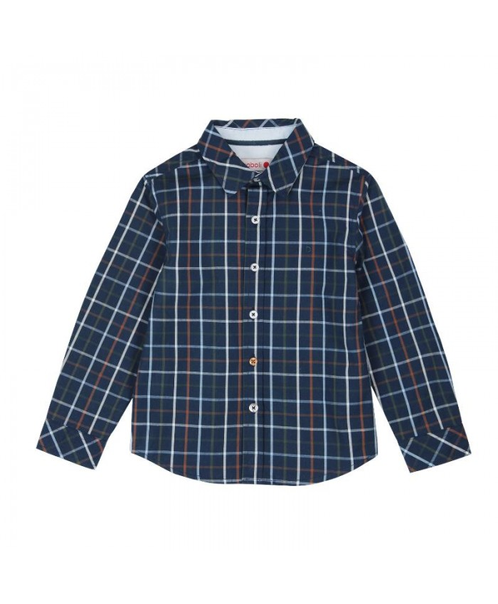 Boboli Poplin  Shirt For Boy's navy