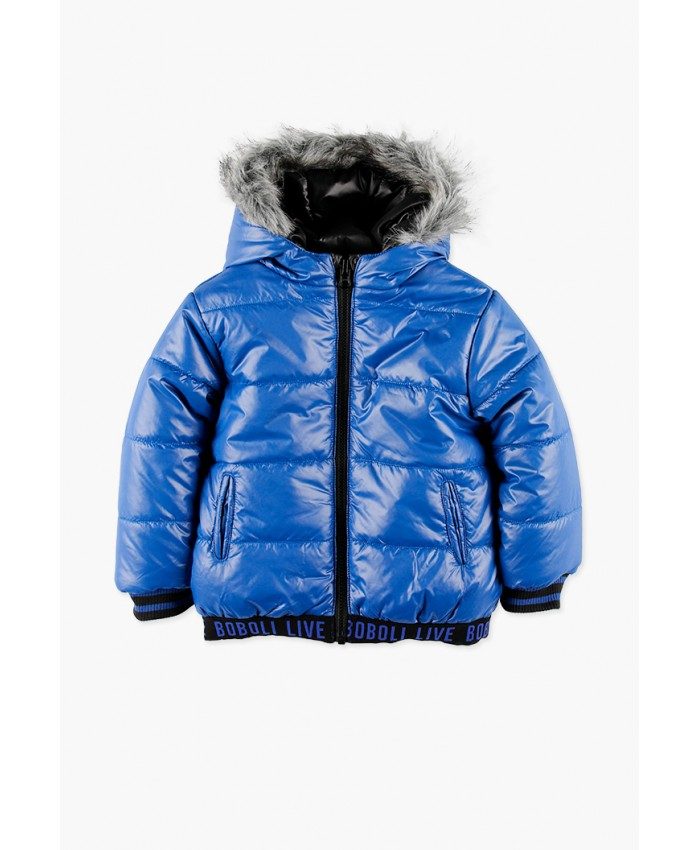 Boboli Reversible jongens jacket Black -Blue