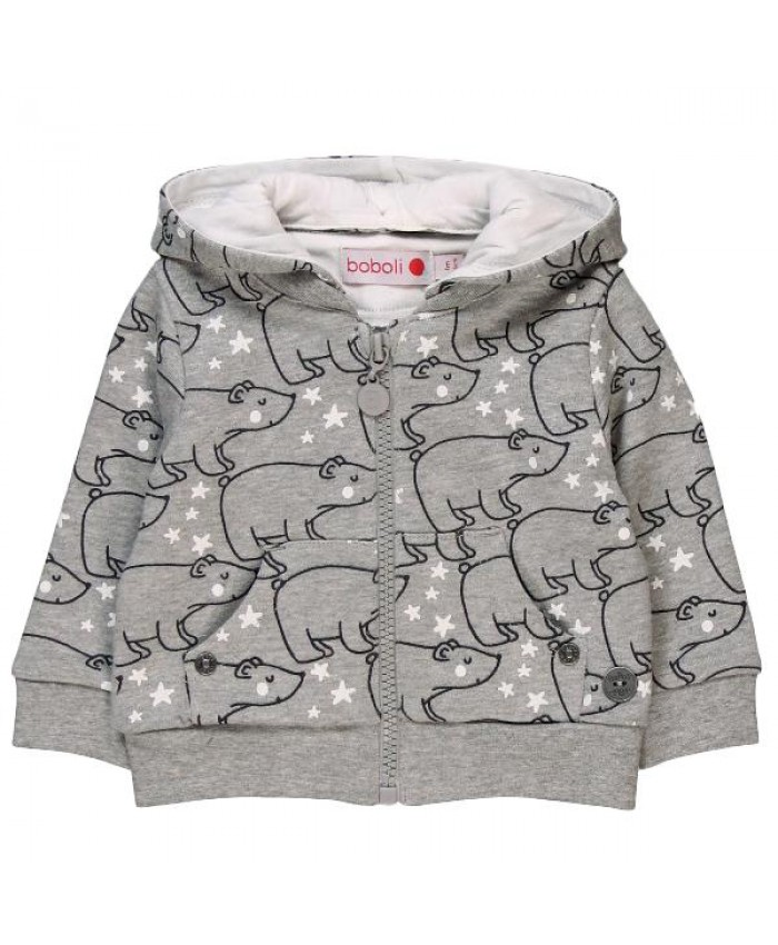 Boboli Fleece jasje baby -boy- girl  grey