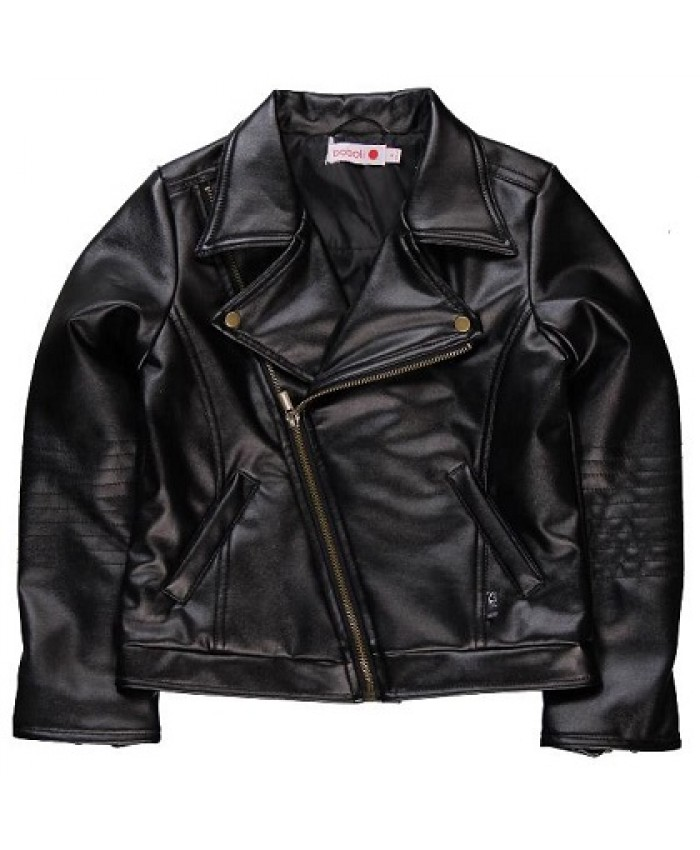 Boboli Fake girls leather jacket black