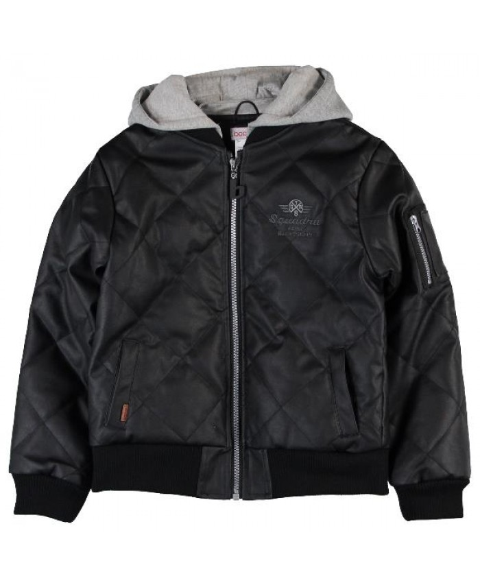 Boboli Fake leather boy's jacket black
