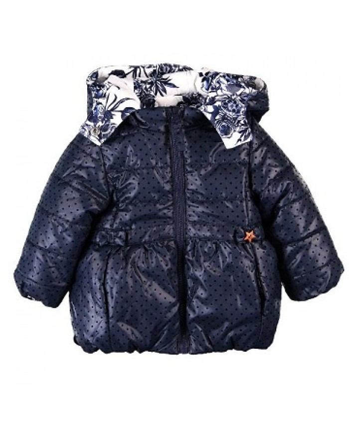 Boboli girls reversible winter jasje technica navy