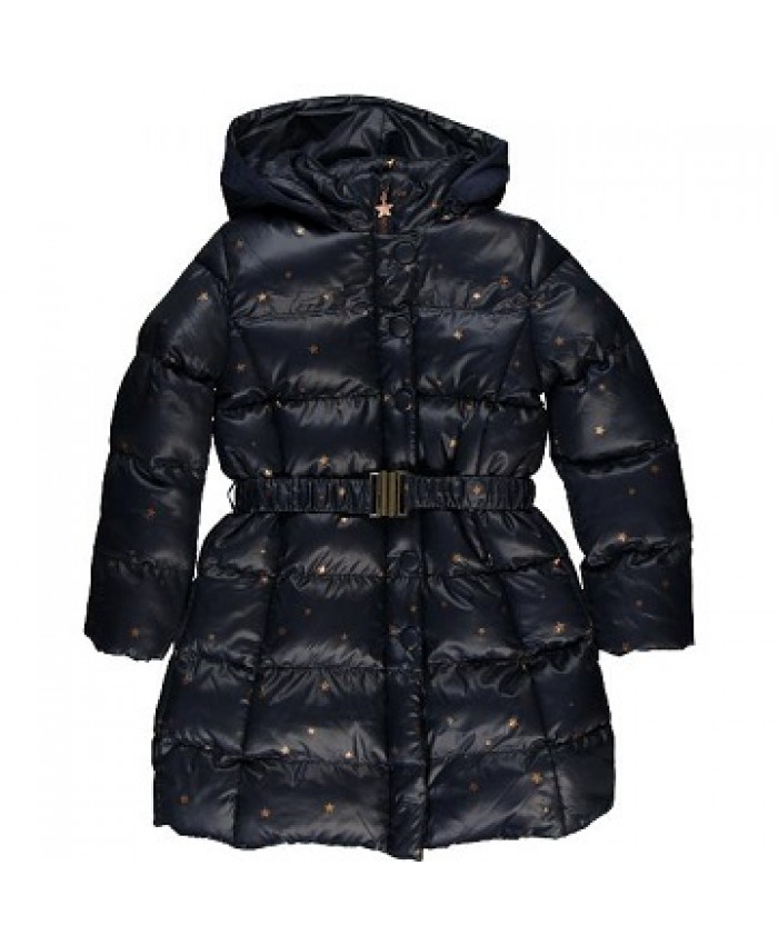 Boboli long coat technical  girls navy