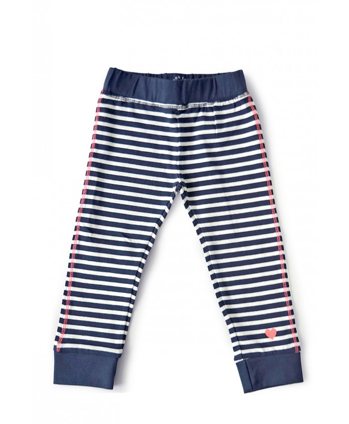 Born to be famous tricot legging stripe navy