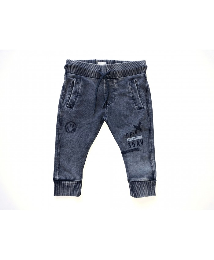 Born To Be Famous pants Grey Acid Washed
