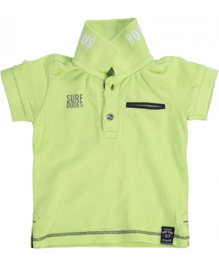 Born to be famous boy's polo neon lime