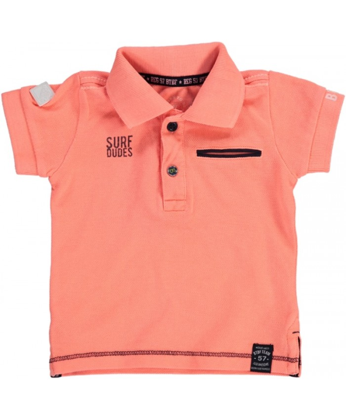 Born to be famous jongens polo Neon orange