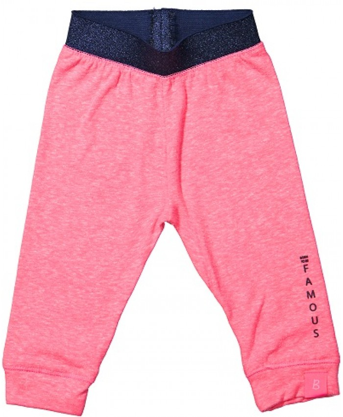 Born to be famous legging pink snow