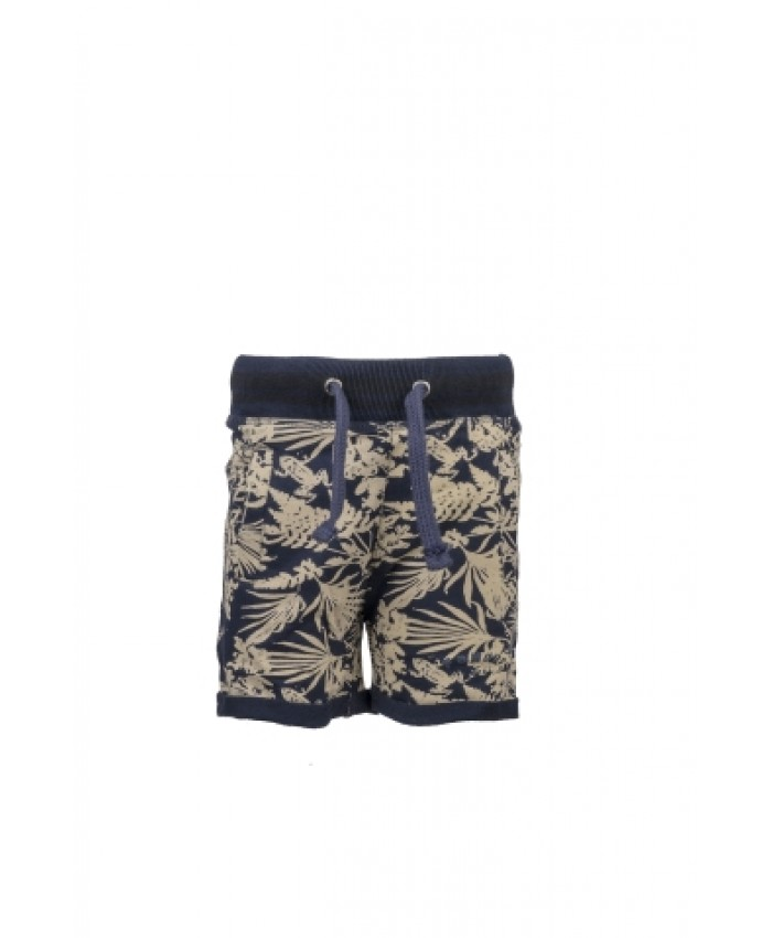 Born To Be Famous Jongens Bermuda Hawai navy print