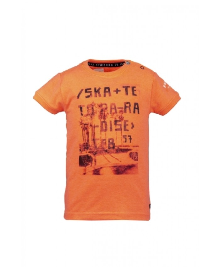 Born To Be Famous T Shirt Orange