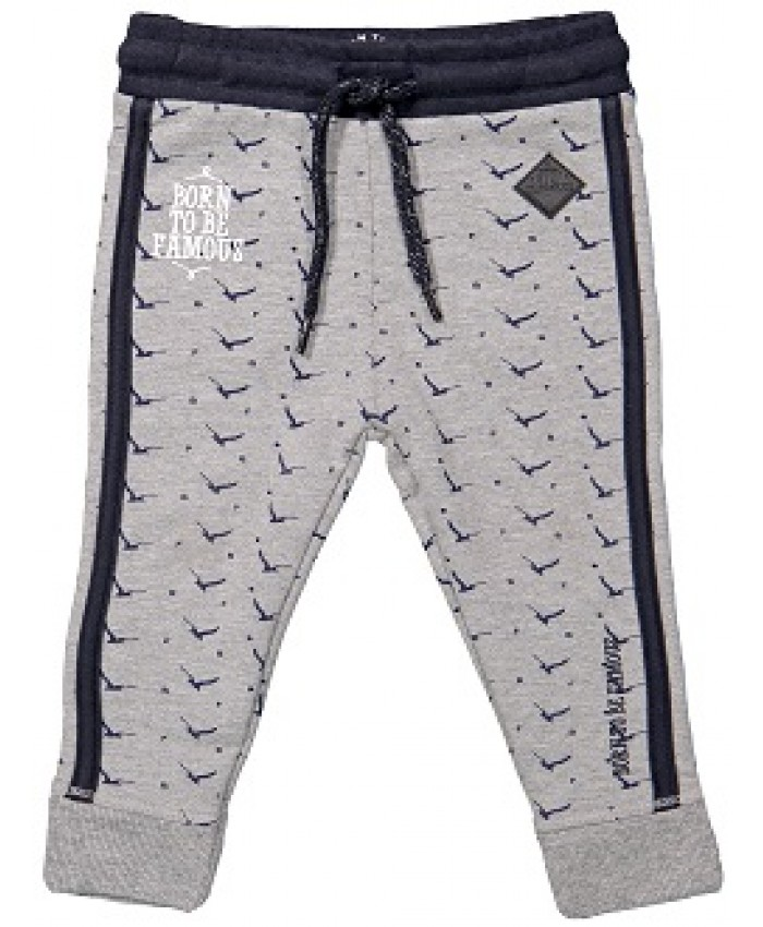 Born to be famous pants  tricot grey