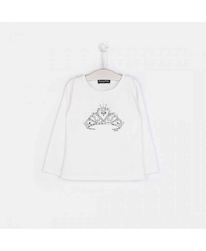 Conquitos T Shirt Lm.Off White