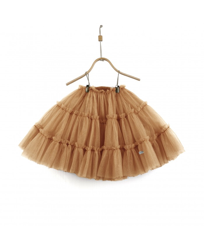 Donsje Skirt Tess Toffee Metallic