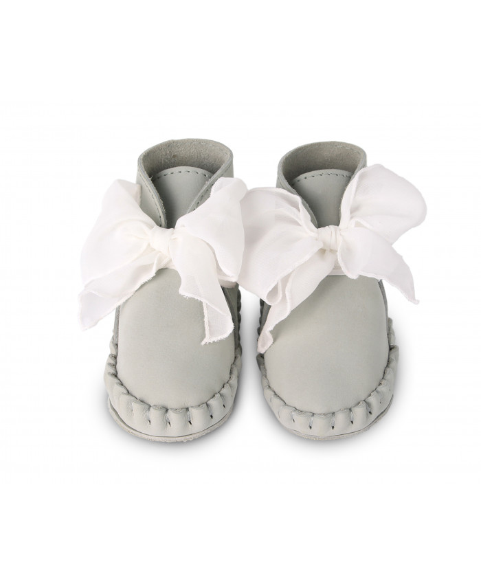 Donsje  Pina Organza shoes Light Grey  +Light Cream Chiffon