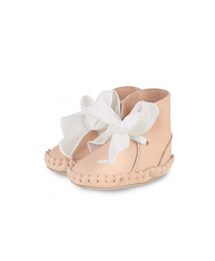 Donsje Organzo powder nubuck shoes  leather + cream chiffon