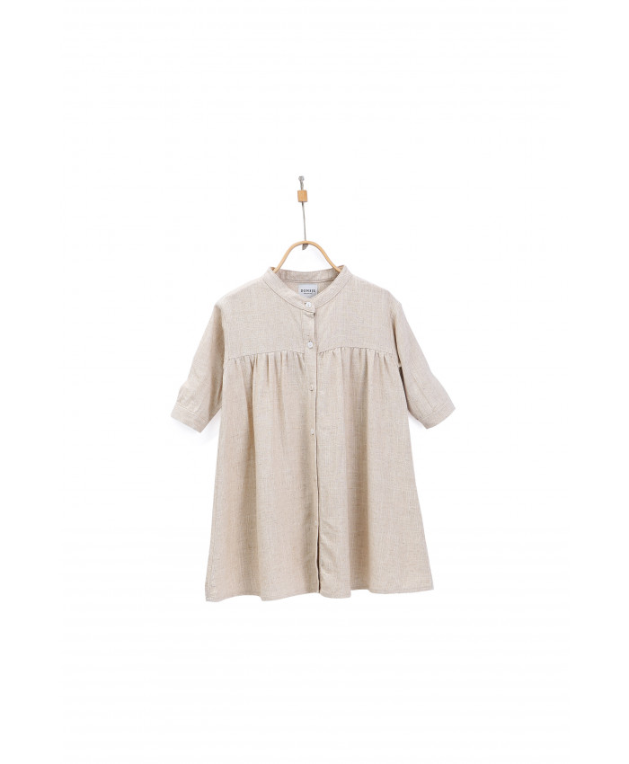 Donsje  Jenna Dress Naturel Linen Blend
