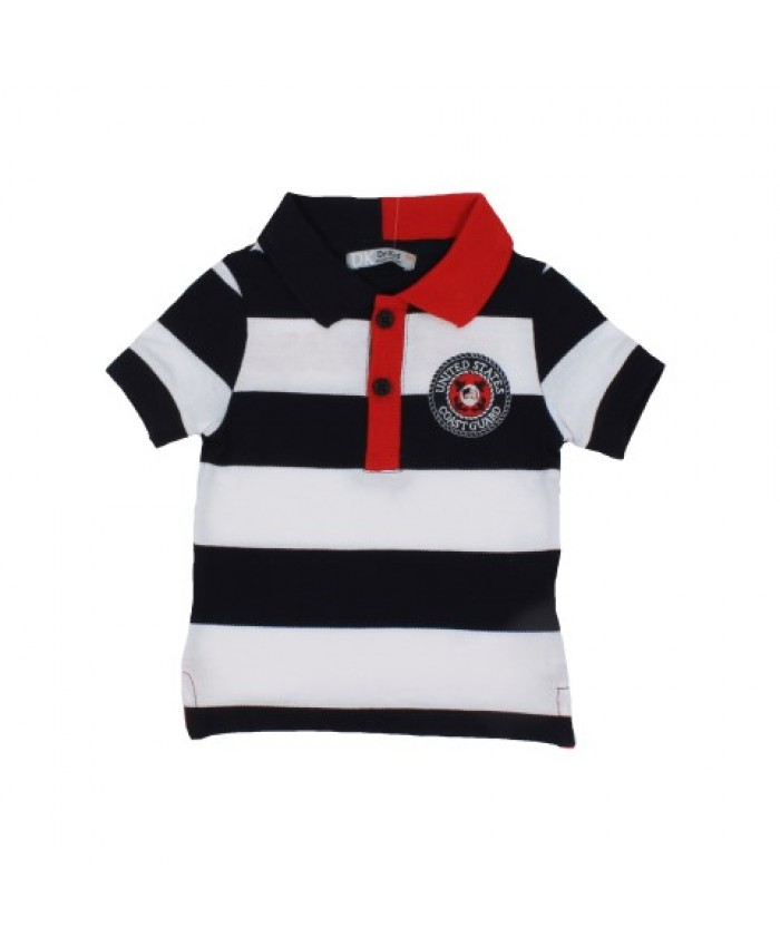 Dr.Kid Boys Polo Shirt Navy Red