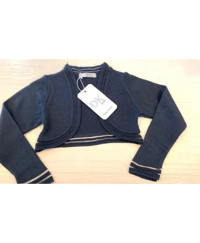 Dr.Kid Short cardigan Girls Navy