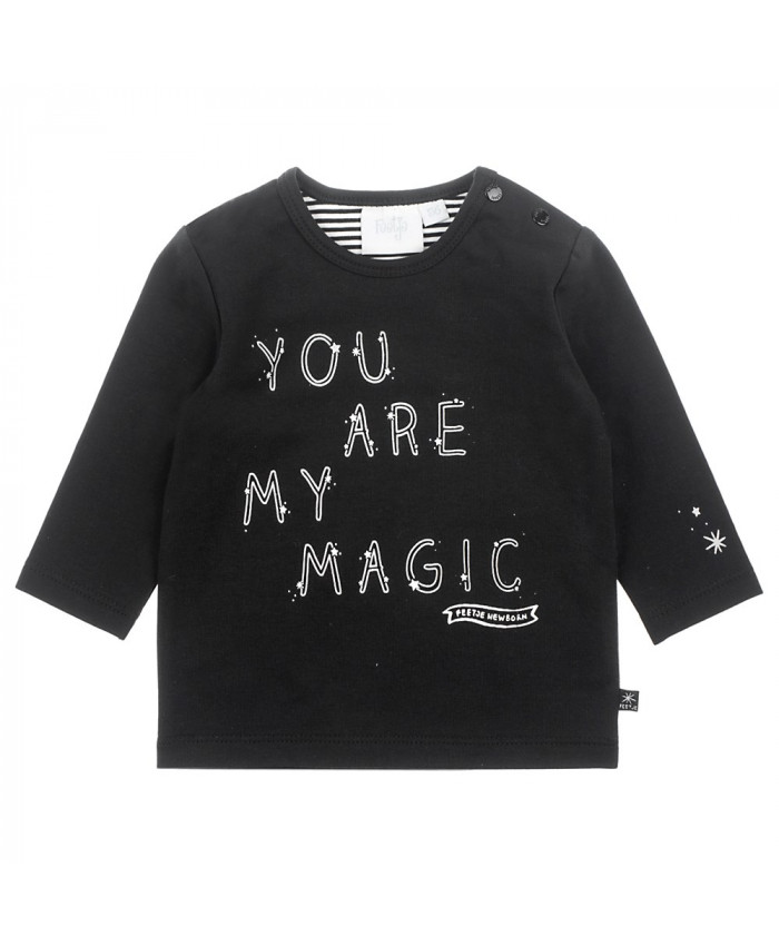 Feetje  Longsleeve Mij Magic Hello World Black