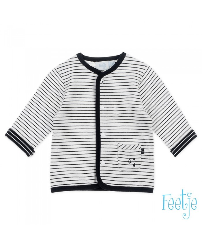 Feetje Cardigan Unisex black Striped