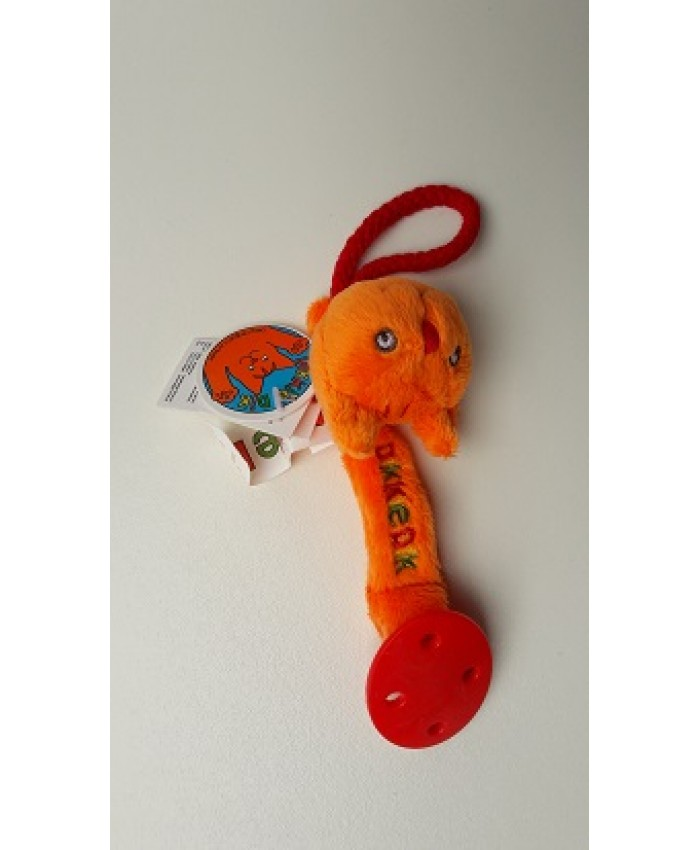 Happy Horse Dikkie dik orange pacifierclip