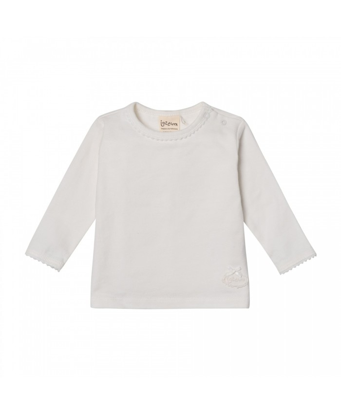 Jottum Baby Girls  shirt LS Off White
