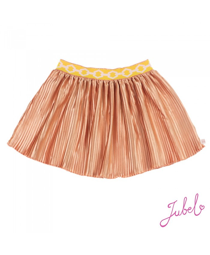 Jubel Plisse' Rok Copper