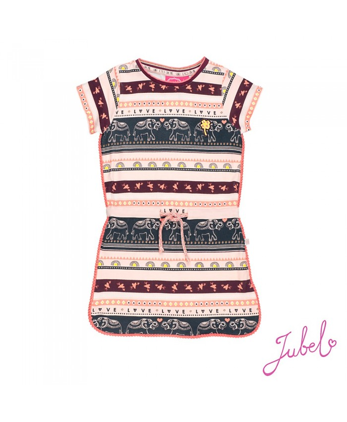 Jubel dress streep - Stargazer pink