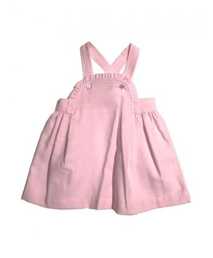 Laranjinha dress pinafore pink