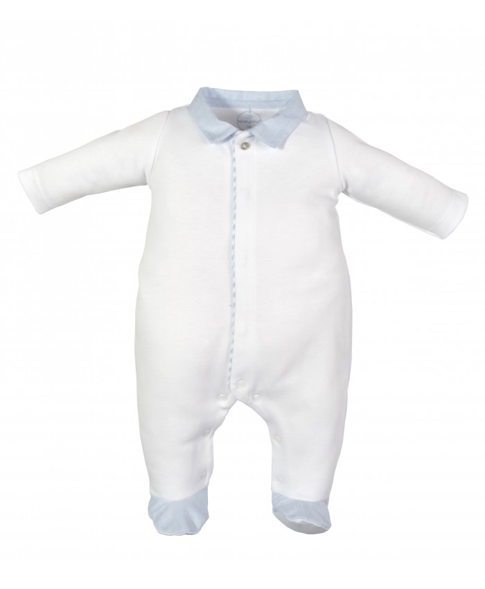 Laranjinha baby grow footy white blue NEW COLLECTION