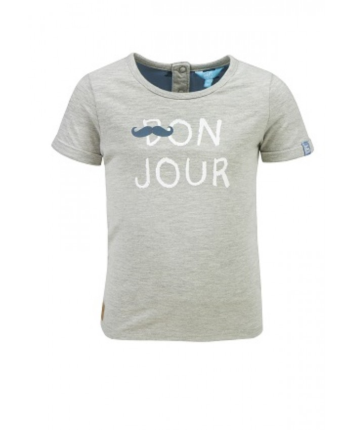 Lief jongens T shirt Travel grey
