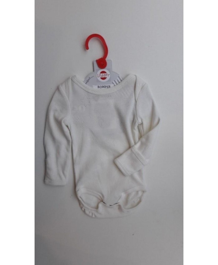 Lodger newborn romper off white