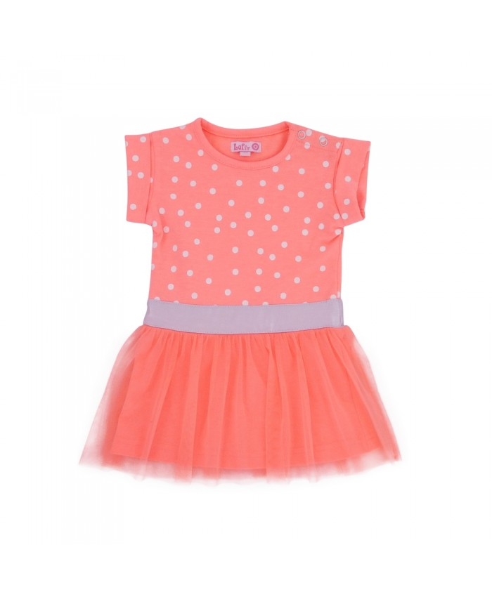 LoFFf  Baby Sweet Dress Bright Peach-White