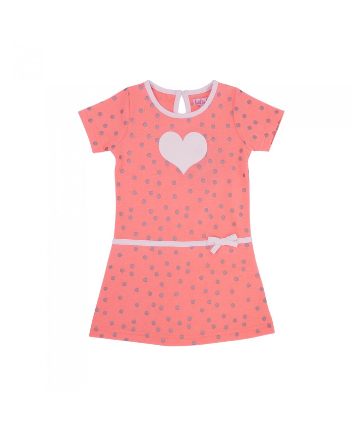 LoFFf  Baby Love Dress Bright Peach White