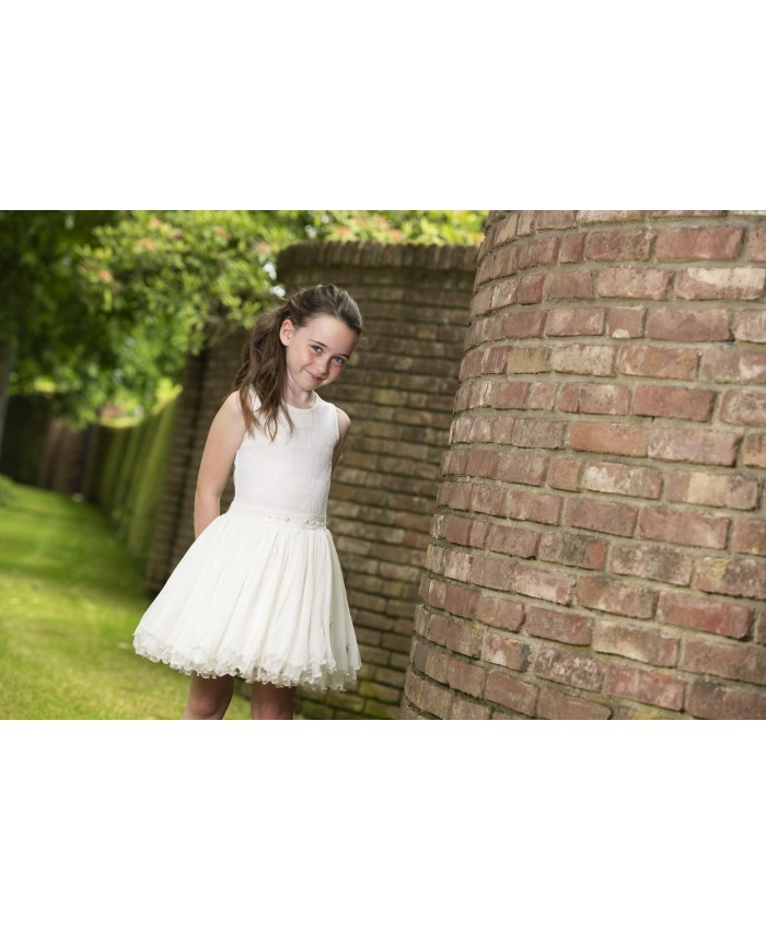 Loff feest cq communie Dancing Dress Off White SS2020