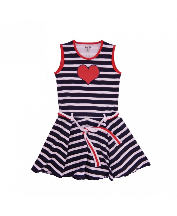 LoFff  Marbella  Dress  Blue Stripes and Red